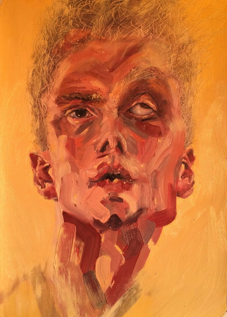 Oil on Paper, 34x22cm, 2016